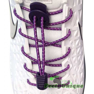 Elastic stripes purple shoelaces