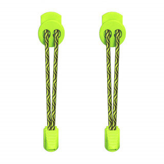 Elastic lock black & neon yellow laces
