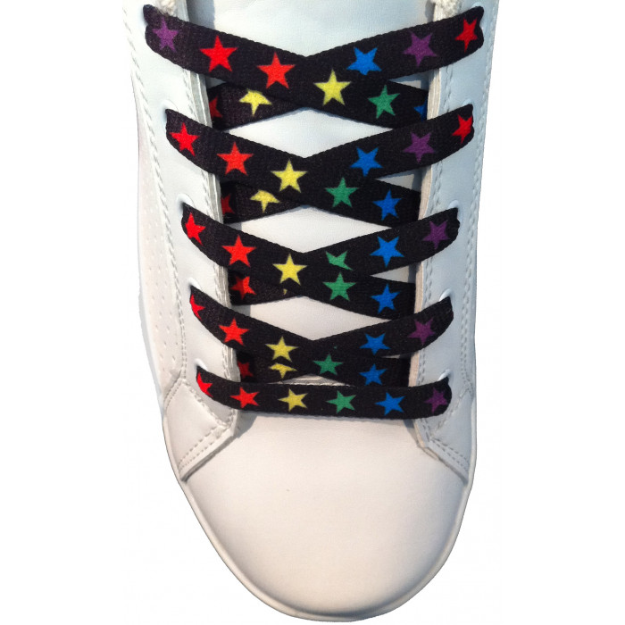 Colourful stars shoelaces
