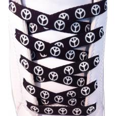 Peace black shoelaces