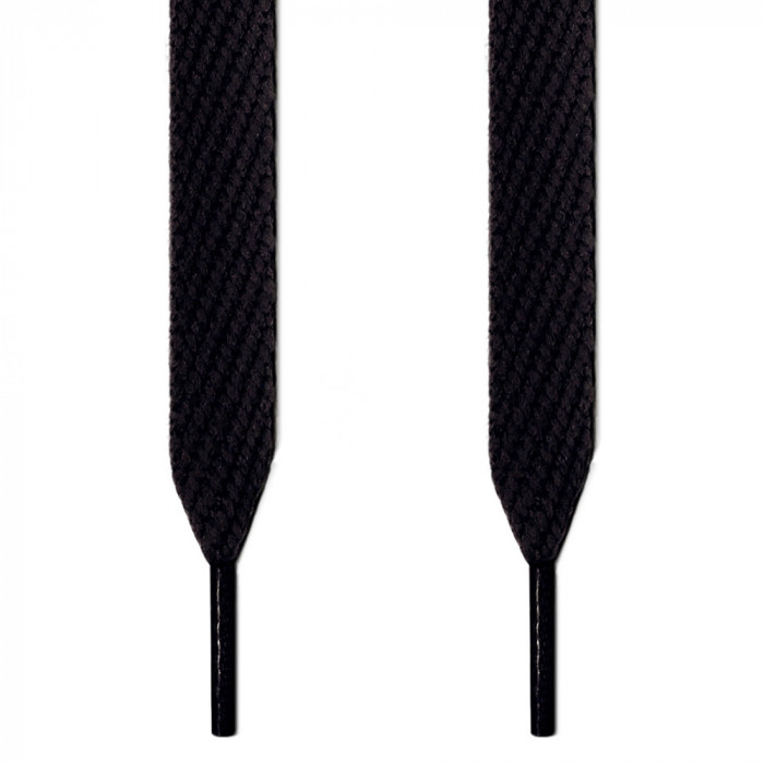 Extra wide black shoelaces