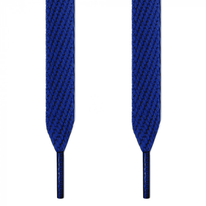Extra wide blue shoelaces