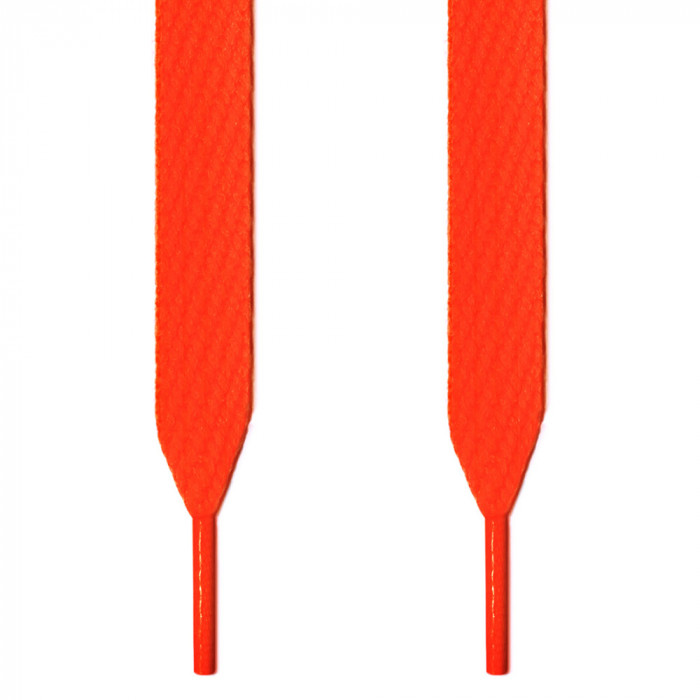 Extra wide neon orange shoelaces