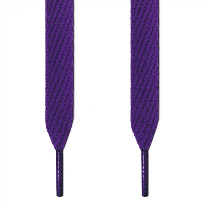 Extra wide purple shoelaces