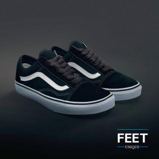 Extra wide dark grey shoelaces