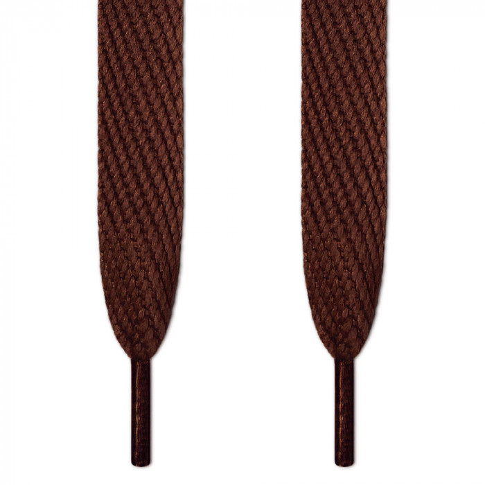 Super wide brown shoelaces