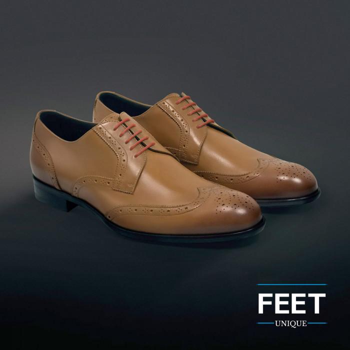 round orange dress shoelaces