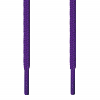 Round purple shoelaces