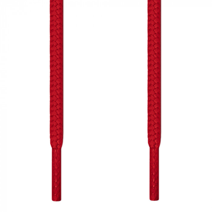 Round red shoelaces