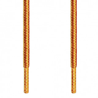 Round brown and yellow shoelaces