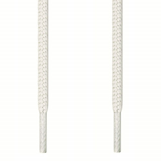 Round white shoelaces