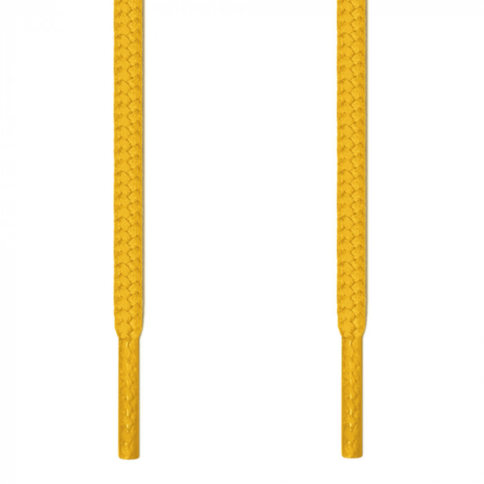 Round yellow shoelaces