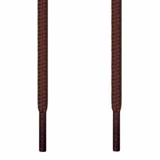 Round dark brown shoelaces