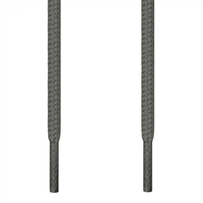 Round dark grey shoelaces