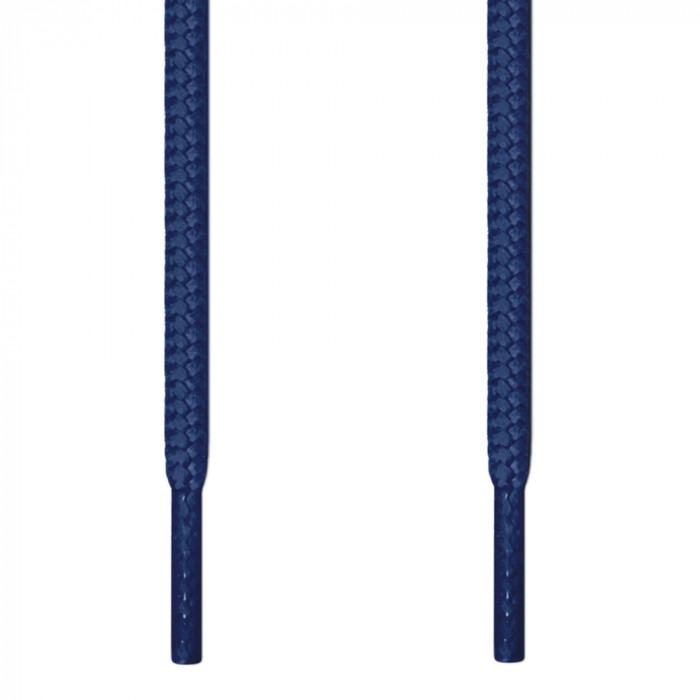 Round navy blue shoelaces