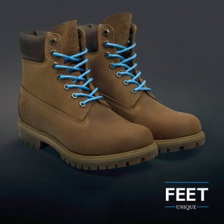Round light blue shoelaces