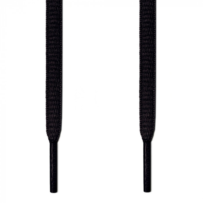 Oval black shoelaces