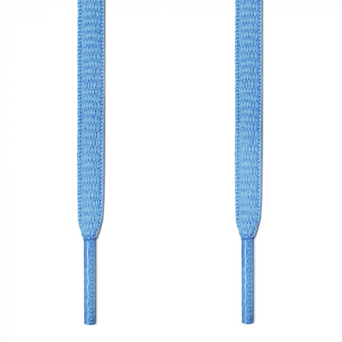 Oval light blue shoelaces