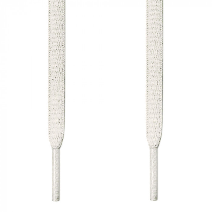Oval white shoelaces