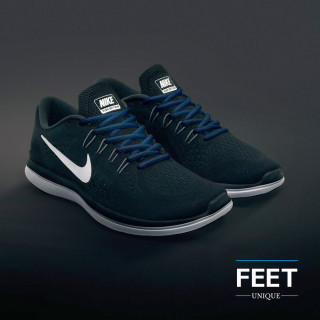 Oval navy blue shoelaces