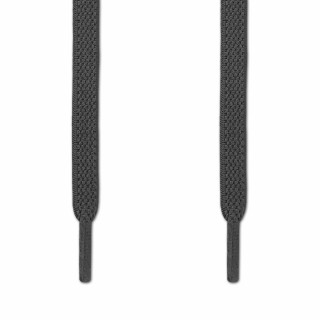Elastic flat dark grey shoelaces (no tie)