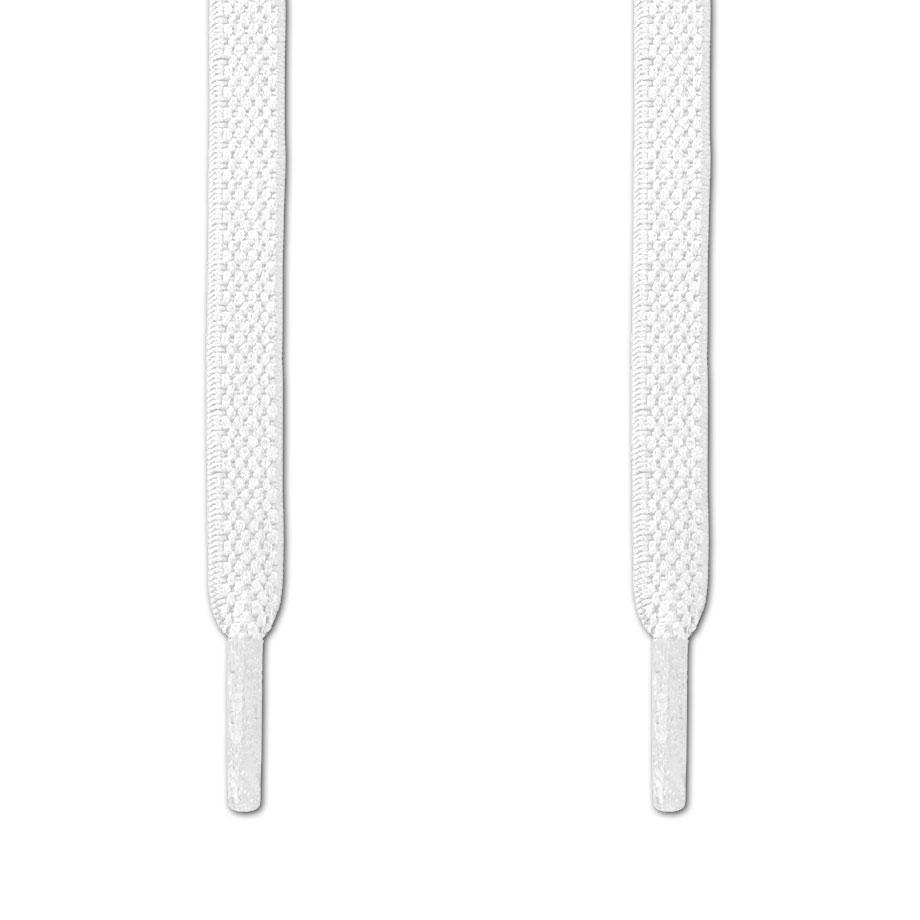 Elastic No Tie White Shoelaces ← Never