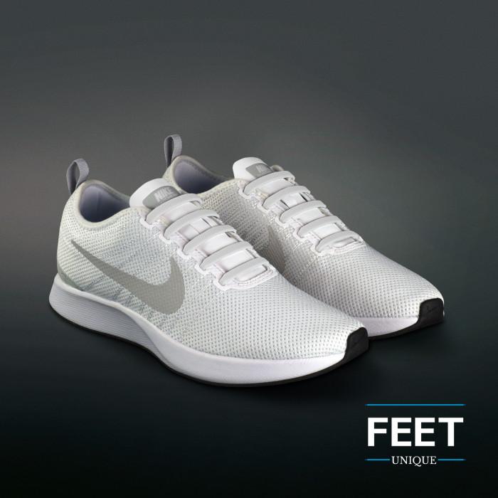 White elastic silicone shoelaces