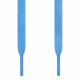 Flat light blue shoelaces