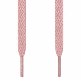 Flat pink shoelaces
