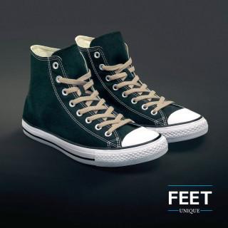 Flat light brown shoelaces