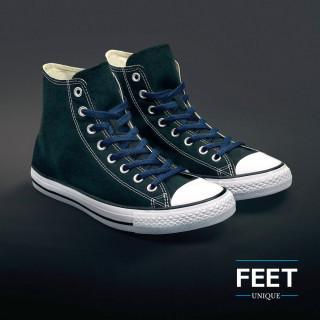 Flat navy blue shoelaces