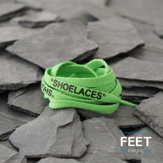 Green OFF-WHITE Shoelaces