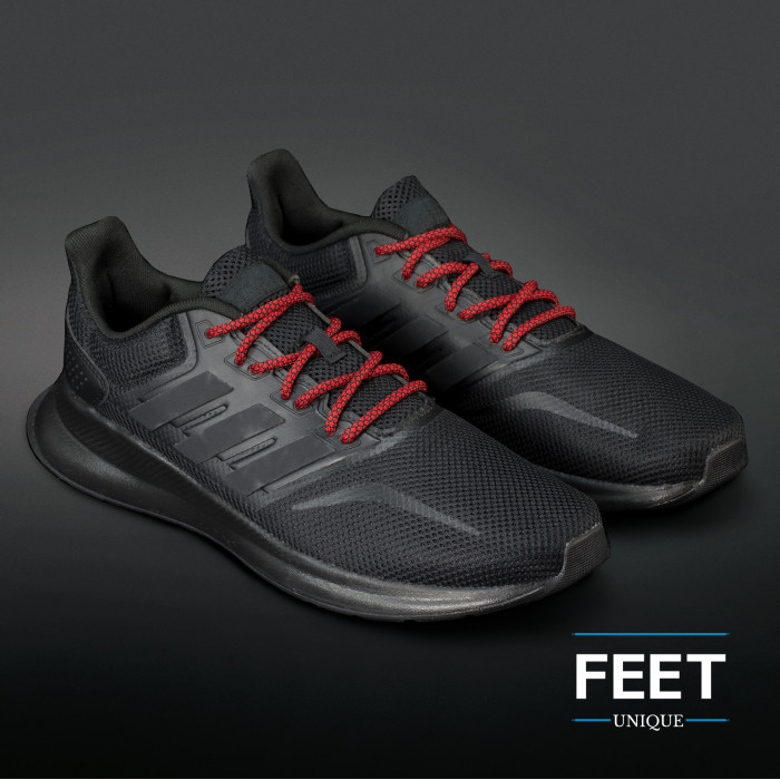 Adidas Yeezy - Rope Laces Black and Red