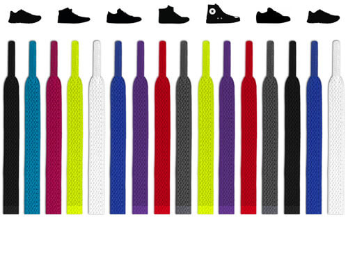 Flat elastic shoelaces (No-tie)