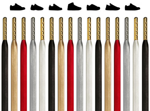 Flat Leather Shoelaces