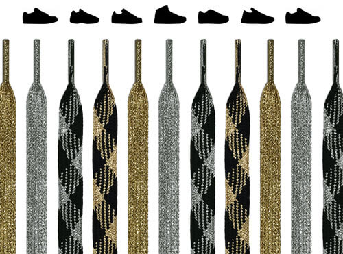 Gold & Silver Shoelaces
